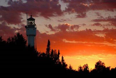 Devil's Island Lighthouse at Sunset